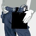 商品写真:黒帆布腰袋