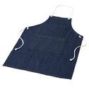 商品写真:デニム胸前掛けポケット付き