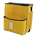 商品写真:革製腰ケース 黄コンピ革